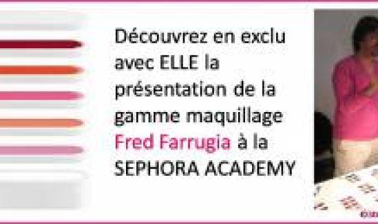 La présentation bloggeuses du maquillage Fred Farrugia à la Sephora Academy