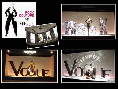 Vitrines+Printemps+Rock+Couture+Vogue Vitrines parisiennes