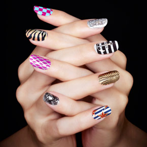 sephora chic prints for nails Exclu : Manucure Lady Gaga like avec les Chic Prints dOPI