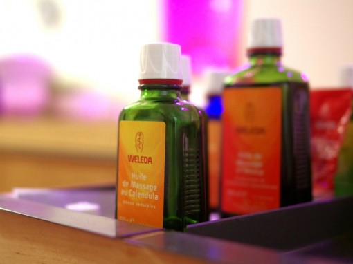 Massage produits Weleda 30ansenbeaute 510x382 Mum to be Party II : le bilan en photos !