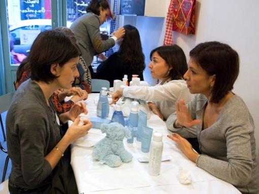 Atelier soins bebe 3 After Mum to be Party 30ansenbeaute 510x382 La rencontre beauté des jeunes mamans : le compte rendu !