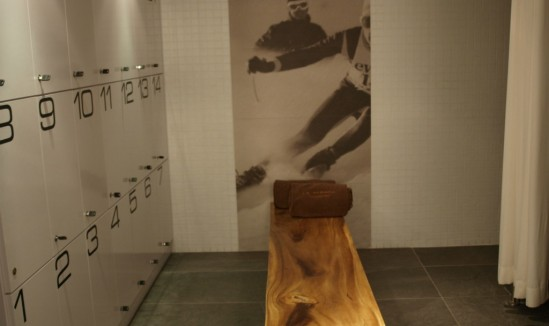Spa Nuxe Le Strato Courchevel vestiaires