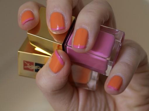 Manucure bicolore YSL duo manucure couture 30ansenbeaute 2 510x382 Abricoti, abricota