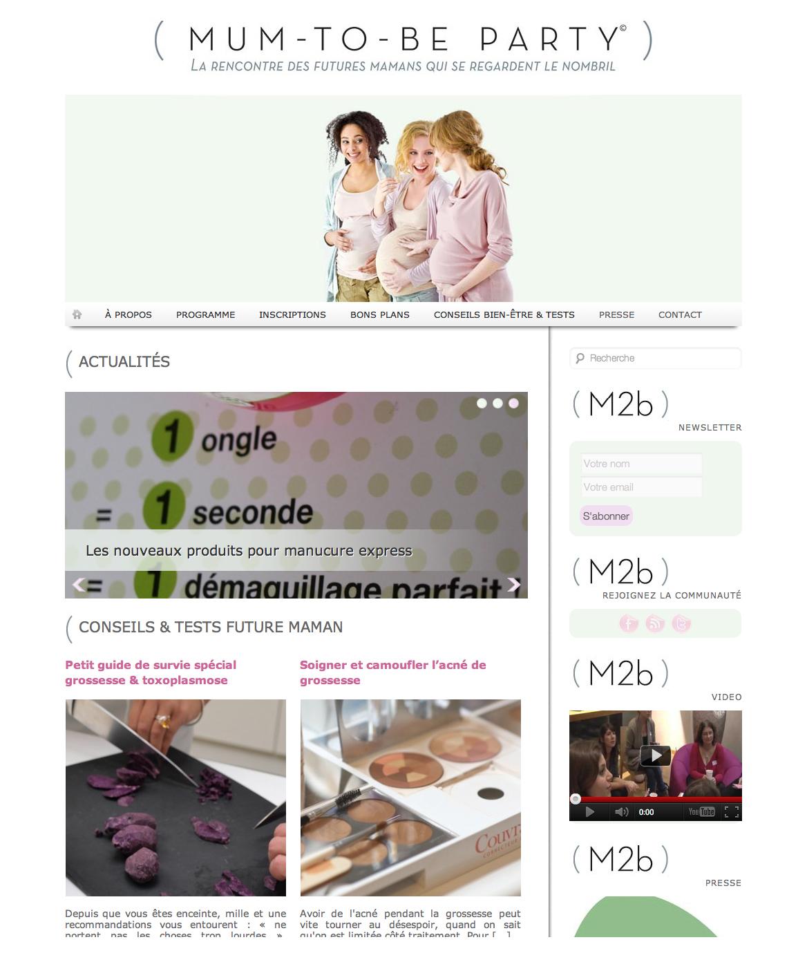 Mumtobeparty.com 3 Le rencontre des futures mamans revient le 20 mars !
