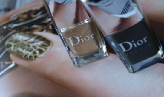 Duo vernis or & top coat fini croco Dior 30ansenbeauté