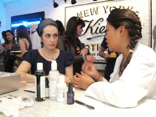 consultation visage boutique kiehls esther 30ansenbeaute 510x382 Kiehls : une soirée pour mieux connaître la marque centenaire