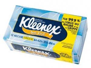 3fef3c2cb2cb1f9953968aca8f9d4c4f Kleenex anti viral: un mouchoir dans l'air du temps?